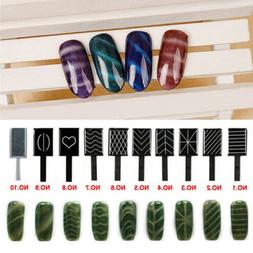 11 Pieces/set 3D Magnet Stick Magnetic Cat Eye Pen For Nail
