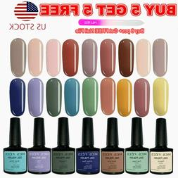 126+ Color UV Gel Nail Polish Set Base Top Coat Soak Off Gli