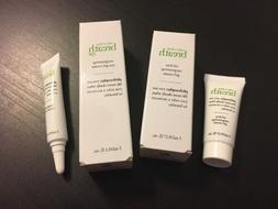 Philosophy Eye Gel Cream & Oil-Free Gel 0.1 OZ Sample Set.