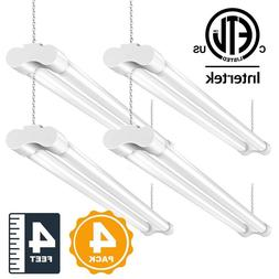 4ft Led Shop Light >> 4 Pack 4ft Led Shop Light 5000k Daylight