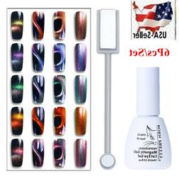 6Pcs/Set BORN PRETTY 10ml Magnetic Stick Cat Eye Soak Off UV