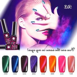 8 pcs/set 3D Cat Eye Nail Gel Polish Magnetic Soak off Lacqu
