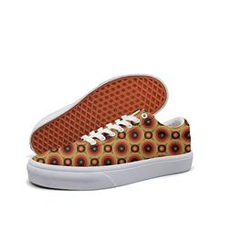 KKLDFD Circles Polygon Quadrilateral Triangle Canvas Low-top