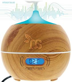 Essential Oil Diffuser Bluetooth Clock Air Aroma Mist Theapy