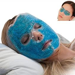 Full Face Gel Mask + Bonus: Eye pad, Hot & Cold Therapy Set
