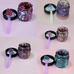 glitter gel body face eye makeup lip gloss unicorn sparkle f