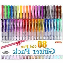 Shuttle Art 40 Colors Glitter Gel Pen Set NEW
