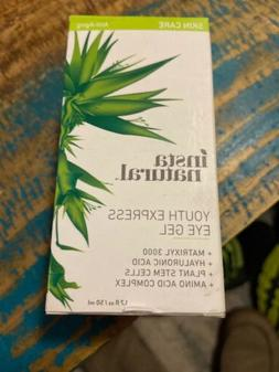 Insta Natural Youth Express Eye Gel, 1.7 Oz, New No Exp Date