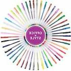 48 Gel Pen Set Colored Office + Style Gel Pens Non-Toxic Wat