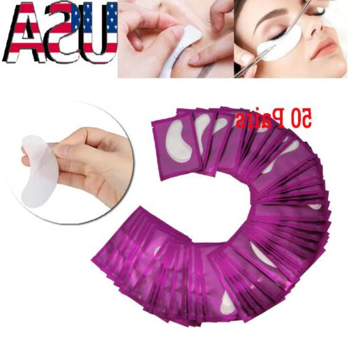 50 Pairs LINT FREE Under Eye Gel Pads Patch Sticker Tape For