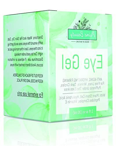 Prime - Eye Gel - Bags, Circles Under and Around Eyes Hyaluronic Jojoba Oil, Peptides, Anti Aging Blend Men