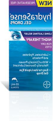 Hydrasense Gel Drops Night Therapy for Dry Eyes 2 Bottles 10
