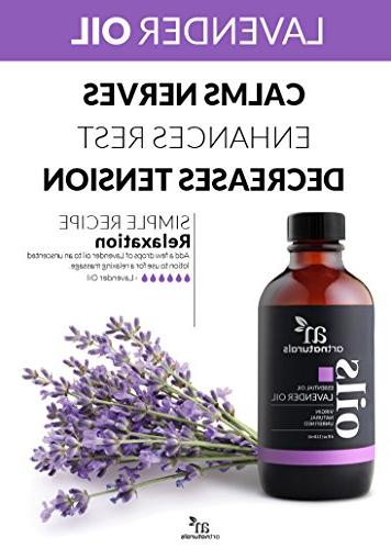 ArtNaturals 100% Pure Essential Oil Premium Undiluted Therapeutic Aromatherapy Relaxation, Skin and Hair Growth
