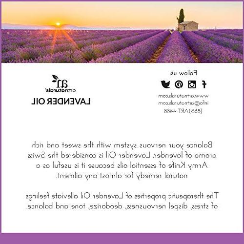 ArtNaturals Pure Lavender Essential Oil - - Premium Undiluted Therapeutic Aromatherapy for Diffuser, Relaxation, Skin Growth