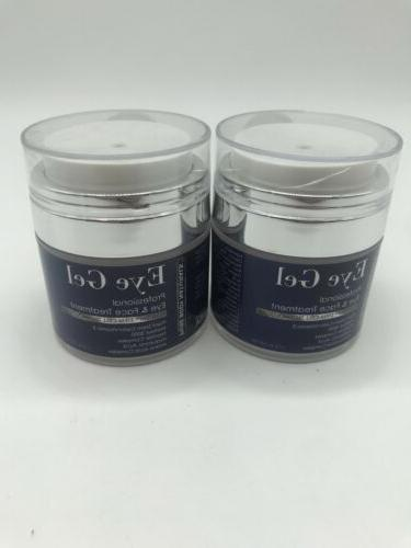 Lot of 2 Pure Body Naturals Eye Gel Professional Eye and Fac