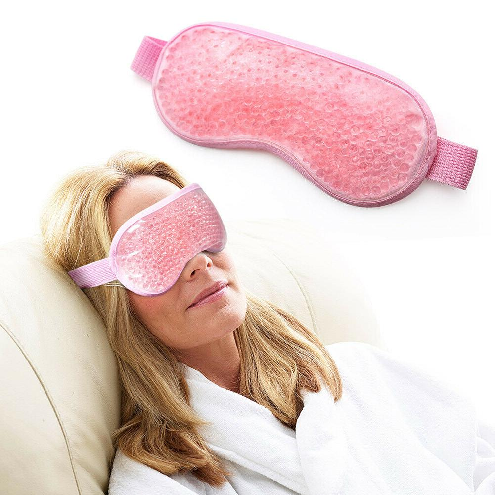 Ice Gel Eye Mask Bead Hot Cold Therapy for Puffy Eyes Headac