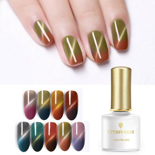 Thermal Temperature Color Changing Cat Eye Gel Nail Polish S