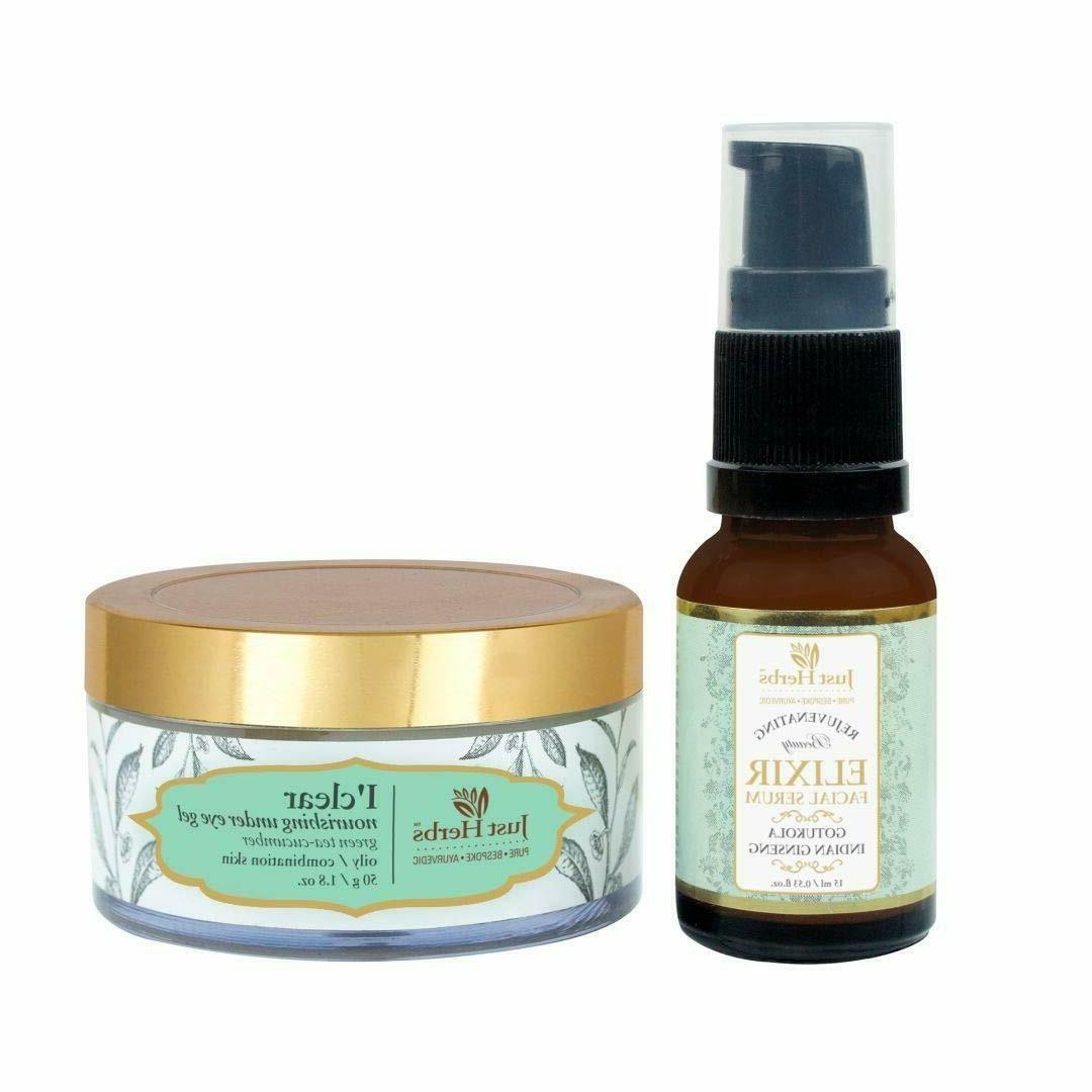 Just Herbs Under Eye Treatment Kit For Oily Combination Skin