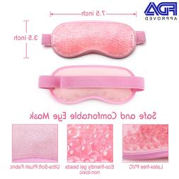 soothing therapeutic gel ice beads eye mask