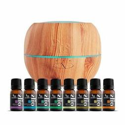 artnaturals Top 8 Essential Oils & Blonde Oil Diffuser Set