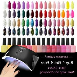 UV LED Nail Gel Polish Soak off Varnish Base Top Color Coat